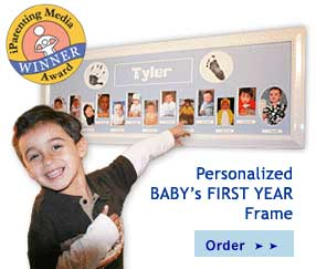personalized baby s first year 12 month keepsake picture frames