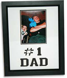 Number One Dad Photo Frame