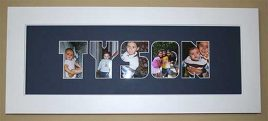 Picture Block Letters Personalized Frame